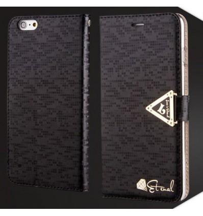 Луксозен страничен флип Leiers Black iPhone 6 Plus