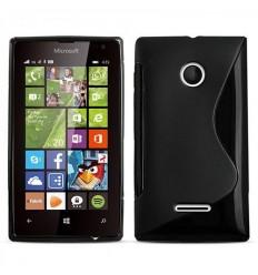 Силиконов калъф | заден капак | гръб S-Line Microsoft Lumia 435 черен