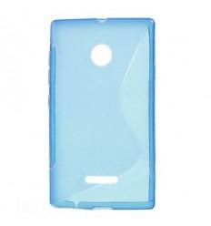 Силиконов калъф | заден капак | гръб S-Line Microsoft Lumia 435 син