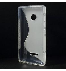 Силиконов калъф | заден капак | гръб S-Line Microsoft Lumia 435 прозрачен