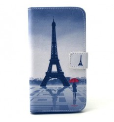 Калъф страничен флип с апликация Samsung Galaxy S6 G920 Айфелова кула