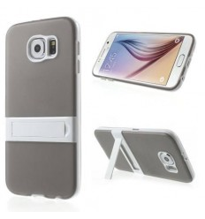 Калъф твърд гръб KickStand Transformer за Samsung Galaxy S6 G920 сив