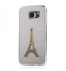 Калъф 3D алуминиев гръб Айфелова кула Samsung Galaxy S6 G920 бял