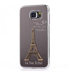Калъф 3D алуминиев гръб Айфелова кула Samsung Galaxy S6 G920 сив
