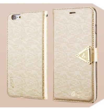 Луксозен страничен флип Leiers Gold iPhone 6 Plus