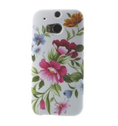 Гръб мек шарен/бутиков HTC One M8 цветя