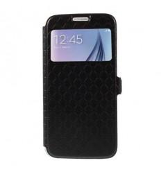 Калъф тип тефтер страничен Window View Samsung Galaxy S6 G920 черен