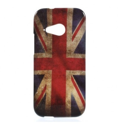 Гръб мек шарен/бутиков HTC One M8 mini  британски флаг