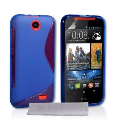 Гръб силикон S-Line HTC DESIRE 310 син
