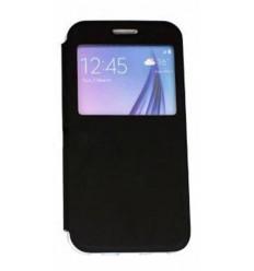 Калъф тип тефтер страничен Window Flip Cover Flexi Samsung Galaxy S6 G920 черен