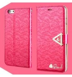 Луксозен страничен флип Leiers Rose iPhone 6 Plus
