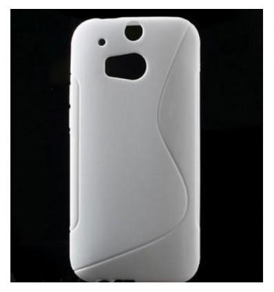 Гръб силикон S-Line HTC ONE M8 бял