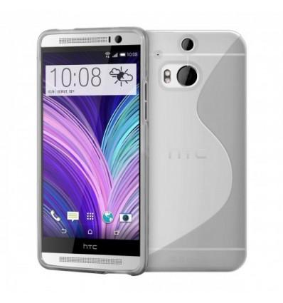 Гръб силикон S-Line HTC ONE M8 прозрачен
