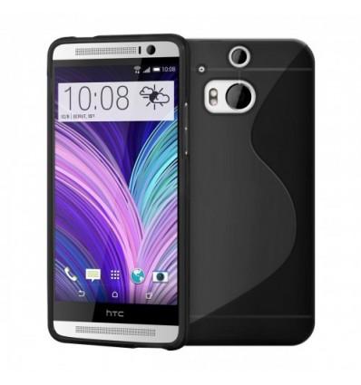 Гръб силикон S-Line HTC ONE M8 черен
