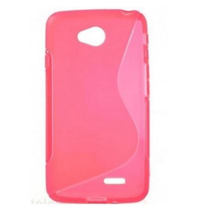 Гръб силикон S-Line HTC ONE M8 mini розов