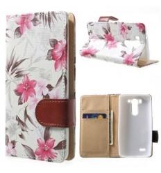 Калъф страничен флип с апликация LG G3 mini цветя