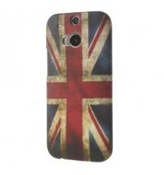 Гръб твърд шарен/бутиков HTC One M8  британски флаг