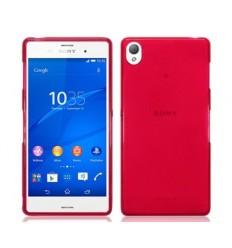 Калъф мек ултра тънък червен за Sony Xperia Z3