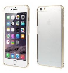 Стилен метален бъмпер iPhone 6 Plus  champagne