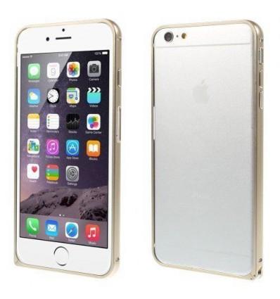 Стилен метален бъмпер iPhone 6 Plus  champagne
