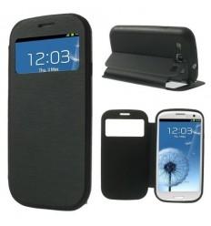 Калъф страничен флип Window View Samsung i9300 Galaxy S3 черен