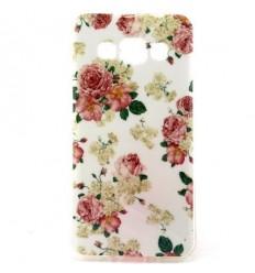 Силиконов калъф гръб с апликация Samsung Galaxy A3 цветя