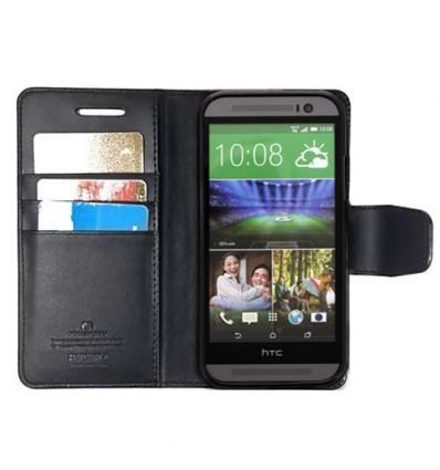 Марков калъф Mercury Sonata Diary за HTC ONE M8 - черен