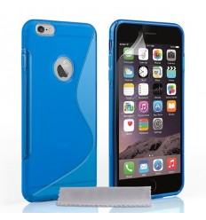 Силиконов калъф гръб S-Line iPhone 6 (5.5) син
