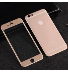 Протектор от закалено стъкло Premium 9H iPhone 6(4.7) комплект златен