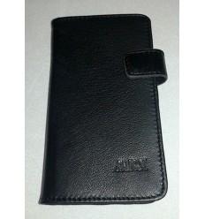 Флип страничен MBX агнешка кожа Samsung Galaxy A3 черен
