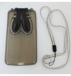 Кейс за Samsung Galaxy Grand Prime калъф мек заешки уши сив