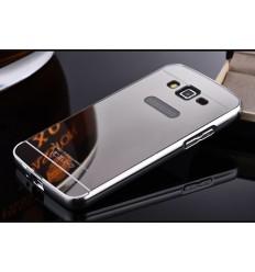 Кейс за Samsung Galaxy Grand Prime калъф твърд Mirror Bumper Silver