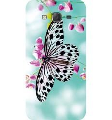 Цветен кейс за Samsung Galaxy Grand Prime мек калъф с картинка пеперуда