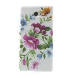 Гръб мек шарен/бутиков Sony Xperia M2 цветя