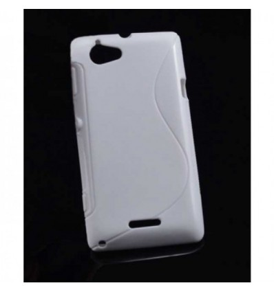 Гръб силикон S-Line Sony c2104 Xperia L бял