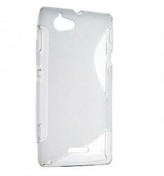 Гръб силикон S-Line Sony c2104 Xperia L прозрачен