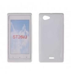 Гръб силикон S-Line Sony Xperia J ST26i прозрачен