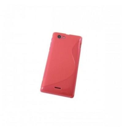 Гръб силикон S-Line Sony Xperia J ST26i червен