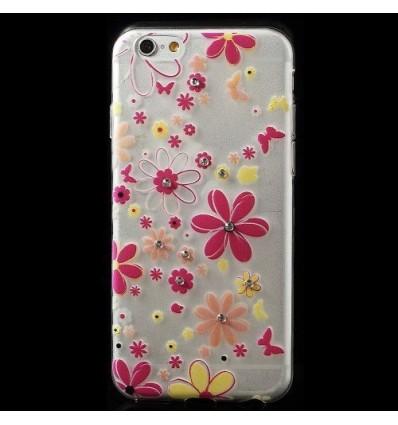 Гръб мек шарен/бутиков- iPhone 6 (4.7) Super Slim цветя