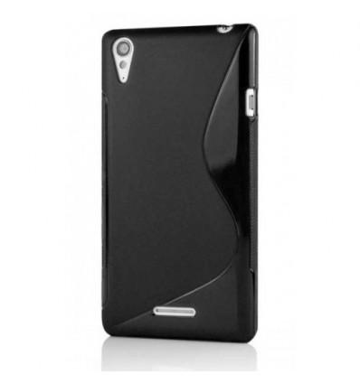 Гръб силикон S-Line Sony Xperia T3 черен