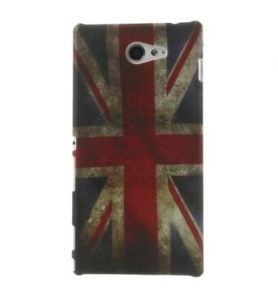 Гръб твърд шарен/бутиков Sony Xperia M2 UK флаг