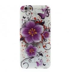 Гръб мек шарен/бутиков- iPhone 6 (4.7) лилаво цвете