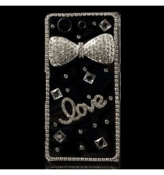 Луксозен гръб с кристали Love Sony Xperia Z3 Compact
