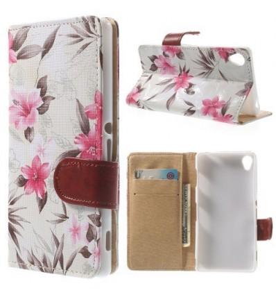 Флип страничен шарен/бутиков Sony Xperia Z3 цветя