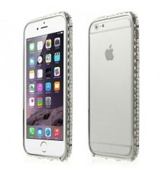 Луксозен бъмпер Round Diamonds iPhone 6  silver