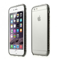 Луксозен бъмпер Round Diamonds iPhone 6  черен