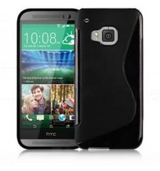 Черен силиконов калъф S-case за HTC One M9