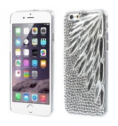 Луксозен гръб Crystal & Rhinestone iPhone 6  бял