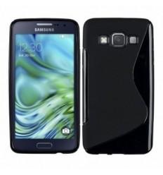 Гръб силикон S-Line Samsung Galaxy A3 черен