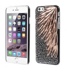 Луксозен гръб Crystal & Rhinestone iPhone 6  черен